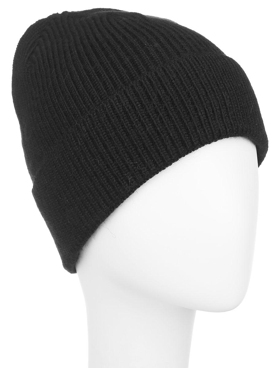 Шапка женская. 98003279800327-02Вязаная женская шапка Venera отлично дополнит ваш образ в холодную погоду. Шапка выполнена простой вязкой из мягкой пряжи, которая не доставит дискомфорта при носке. Сочетание шерсти и акрила максимально сохраняет тепло и обеспечивает удобную посадку. Теплая шапка с отворотом станет отличным дополнением к вашему осеннему или зимнему гардеробу, в ней вам будет уютно и тепло!