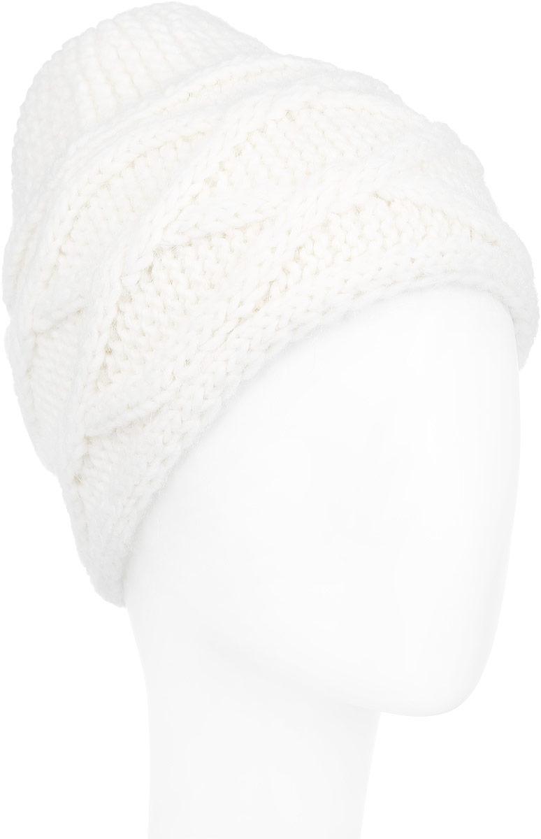 Шапка женская. 98039879803987-01Вязаная женская шапка Venera отлично дополнит ваш образ в холодную погоду. Шапка выполнена крупной фактурной вязкой из мягкой пряжи, которая не доставит дискомфорта при носке. Сочетание используемых материалов максимально сохраняет тепло и обеспечивает удобную посадку. Теплая шапка Venera станет отличным дополнением к вашему осеннему или зимнему гардеробу, в ней вам будет уютно и тепло!