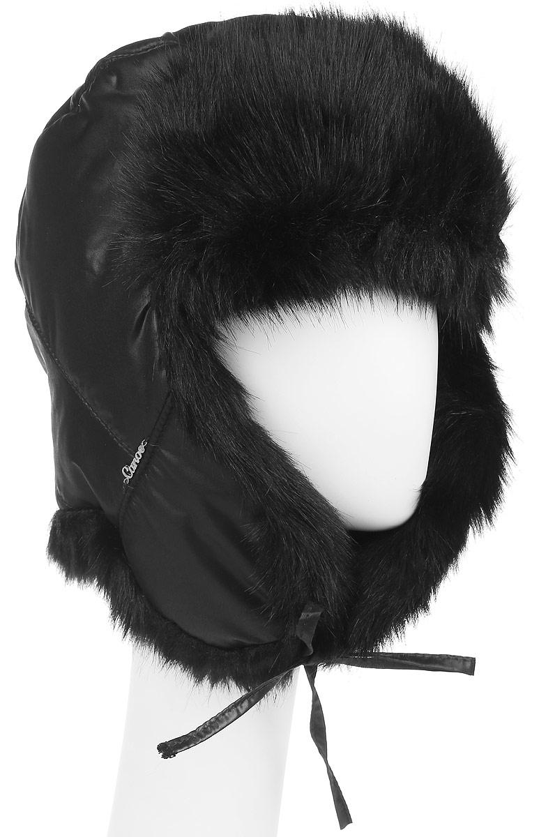 Шапка-ушанка женская Mari3443100Меховая шапка-ушанка с отделкой из искусственного высоковорсного меха Canoe Alpa - великолепный головной убор на зиму. Такое изделие, несомненно, понравится и поможет создать всегда актуальный образ. Свойство ушанки сохранять тепло лежит в функциональной конструкции и деталях, плотно закрывающих лоб и уши. В дополнение к техническим особенностям модели решающую роль играет выбор внешнего материала и подкладки - водоотталкивающий, дышащий внешний слой и терморегулирующая внутренняя подкладка из хлопка. Модель имеет завязочки на ушах и оформлена металлическим логотипом бренда. Шапка-ушанка - незаменимый аксессуар на охоте и прогулках на природе. Такой головной убор станет хорошим дополнением к зимнему образу.