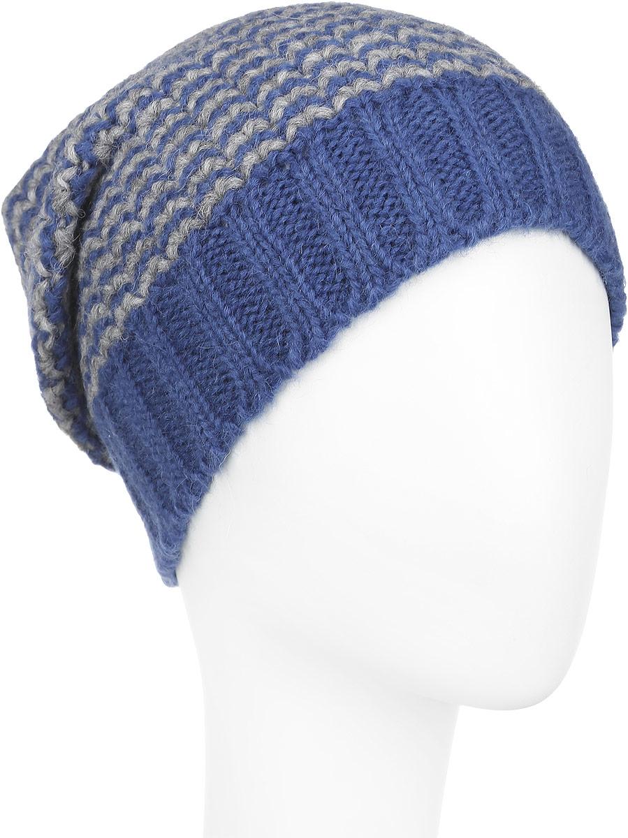 Шапка женская. 98010419801041-11Стильная женская шапка Venera, выполненная из двухцветной шерстяной пряжи, станет отличным дополнением вашего образа в холодную погоду. Модель очень мягкая и приятная на ощупь, не колется. Широкая резинка по низу изделия обеспечивает удобную посадку и идеальное облегание. Шапка Venera отлично дополнит повседневный образ и молодой девушки, и женщины любого возраста, это универсальный и очень практичный аксессуар.