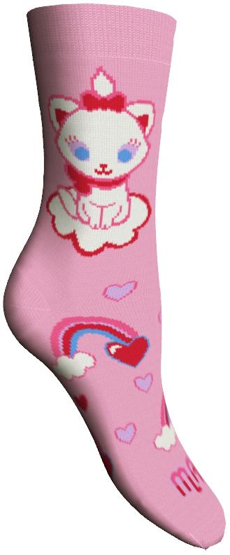 Носки женские. 1580015800Удобные носки Master Socks, изготовленные из высококачественного комбинированного материала, очень мягкие и приятные на ощупь, позволяют коже дышать. Эластичная резинка плотно облегает ногу, не сдавливая ее, обеспечивая комфорт и удобство. Носки оформлены принтом с изображением героев мультфильма. Практичные и комфортные носки великолепно подойдут к любой вашей обуви.
