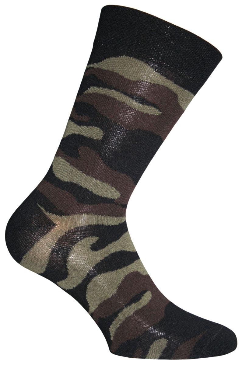 Носки58030Удобные носки Master Socks, изготовленные из высококачественного комбинированного материала, очень мягкие и приятные на ощупь, позволяют коже дышать. Широкая эластичная резинка плотно облегает ногу, не сдавливая ее, обеспечивая комфорт и удобство. Модель оформлена принтом камуфляж. Удобные и комфортные носки великолепно подойдут к любой вашей обуви.