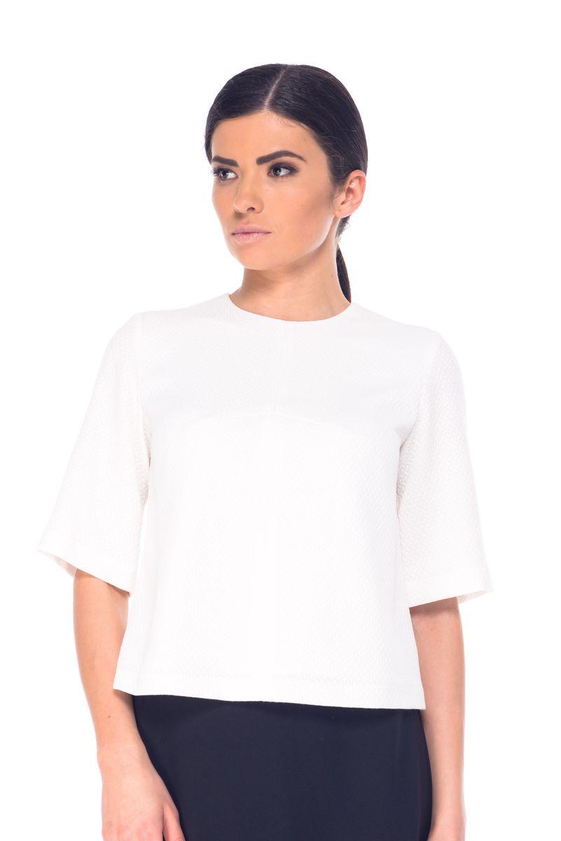 БлузкаL 7066Женская блузка Arefeva выполнена из высококачественного комбинированного материала. Перед изделия дополнен подкладкой из полиэстера. Модель с круглым вырезом горловины и рукавами длинной до локтя на спинке завязывается на завязки.