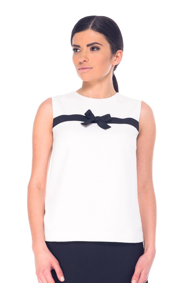 БлузкаL 7052Женская блузка Arefeva выполнена из высококачественного комбинированного материала. Модель с круглым вырезом горловины застегивается на потайную застежку-молнию расположенную в среднем шве спинки. Блузка оформлена текстильной лентой с бантом.