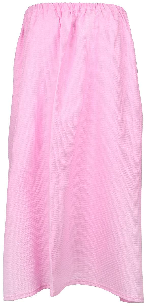 ПареоБ85_розовыйПарео для бани и сауны Главбаня выполнено из легкой вафельной ткани (100% хлопок). Изделия из такой ткани хорошо впитывают влагу, являются практичными и износостойкими. Парео снабжено эластичной резинкой и застежкой-липучкой, поэтому универсально. Оно прекрасно послужит в качестве полотенца или накидки и защитит вас от воздействия горячих предметов в парилке. Парео - полезный аксессуар для всех любителей попариться в бане.