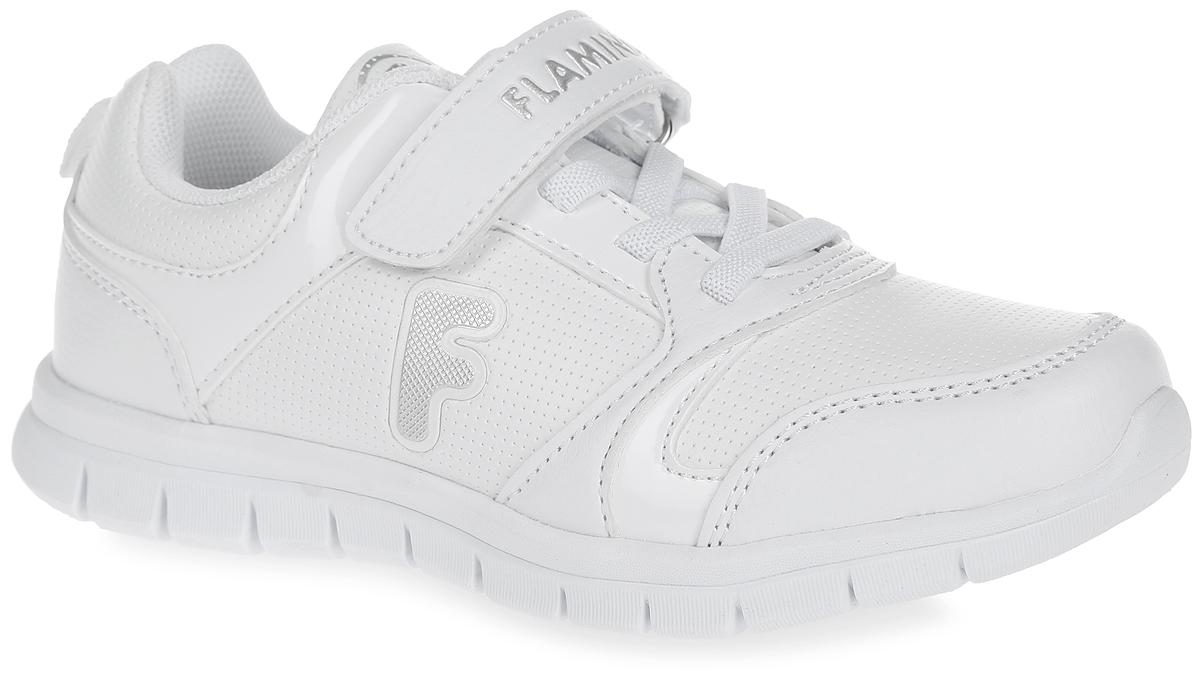 Кроссовки для мальчика. 61-NK1161-NK115Стильные кроссовки от Flamingo придутся по душе вашему мальчику. Модель выполнена из искусственной кожи и дополнена перфорированными вставками. Ремешок на застежке-липучке надежно зафиксирует изделие на ножке ребенка. Подъем оформлен декоративной эластичной шнуровкой, ремешок - фирменным названием. Текстильная подкладка гарантирует комфорт и предотвращает натирание. Анатомическая стелька ORTO-Preventive из вспененного полимера с верхним покрытием из натуральной кожи, дополненная сводоподдерживающим элементом, обеспечивает максимальную устойчивость ноги при ходьбе и правильное формирование стопы. Подошва с рифлением гарантирует идеальное сцепление с любой поверхностью. Оригинальные кроссовки - незаменимая вещь в гардеробе каждого мальчика!