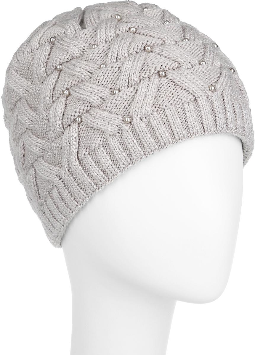 Шапка женская. 3-0363-036_002Стильная женская шапка Flioraj с фактурной вязкой дополнит ваш образ в холодную погоду. Модель выполнена из высококачественной шерсти в сочетании с акрилом, мягкая и приятная на ощупь. Шапочка двойная, идеально прилегает к голове, благодаря чему надежно защищает от ветра и мороза. Край шапки связан резинкой средней ширины. Изделие оформлено декоративным ажурным узором. Спереди модель декорирована бусинами. Такой теплый аксессуар защитит от холода и станет модным дополнением к вашему гардеробу. Уважаемые клиенты! Размер, доступный для заказа, является обхватом головы.