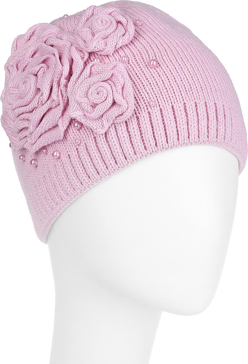 Шапка женская. 3-0173-017_002Женская шапка Flioraj станет отличным дополнением к вашему гардеробу в холодную погоду. Двойная шапка выполнена из шерсти с добавлением акрила, мягкая и приятная на ощупь, максимально сохраняет тепло. Модель украшена декоративными элементами в виде цветов, а также бусинами. Такой стильный и теплый аксессуар подчеркнет вашу женственность и неповторимость. Уважаемые клиенты! Размер, доступный для заказа, является обхватом головы.