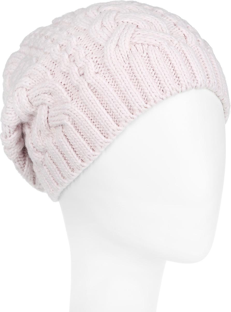 Шапка2-022_006мЖенская шапка Flioraj с фактурной вязкой дополнит ваш образ в холодную погоду. Изделие выполнено из высококачественной шерсти в сочетании с акрилом, приятное на ощупь, идеально прилегает к голове. Удлиненная модель шапки подходит для любого типа лица и никогда не выходит из моды. Край шапки связан резинкой. Изделие украшено вязаными ажурными косами. Такой стильный и теплый аксессуар подчеркнет ваш образ и индивидуальность! Шапка надежно защитит от холода и подарит ощущение комфорта. Уважаемые клиенты! Размер, доступный для заказа, является обхватом головы.