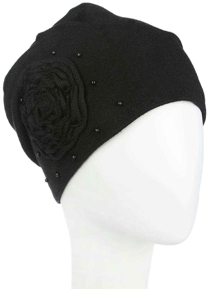 Шапка женская. 2-0242-024_002Женская шапка Flioraj дополнит ваш образ в холодную погоду. Она выполнена из высококачественной шерсти в сочетании с акрилом, приятная на ощупь, идеально прилегает к голове. Подкладка шапки изготовлена из теплого мягкого флиса. Удлиненная модель украшена декоративным элементом в виде цветка, а также бусинами. Такой стильный и теплый аксессуар подчеркнет ваш образ и индивидуальность, а также надежно защитит от холода. Уважаемые клиенты! Размер, доступный для заказа, является обхватом головы.
