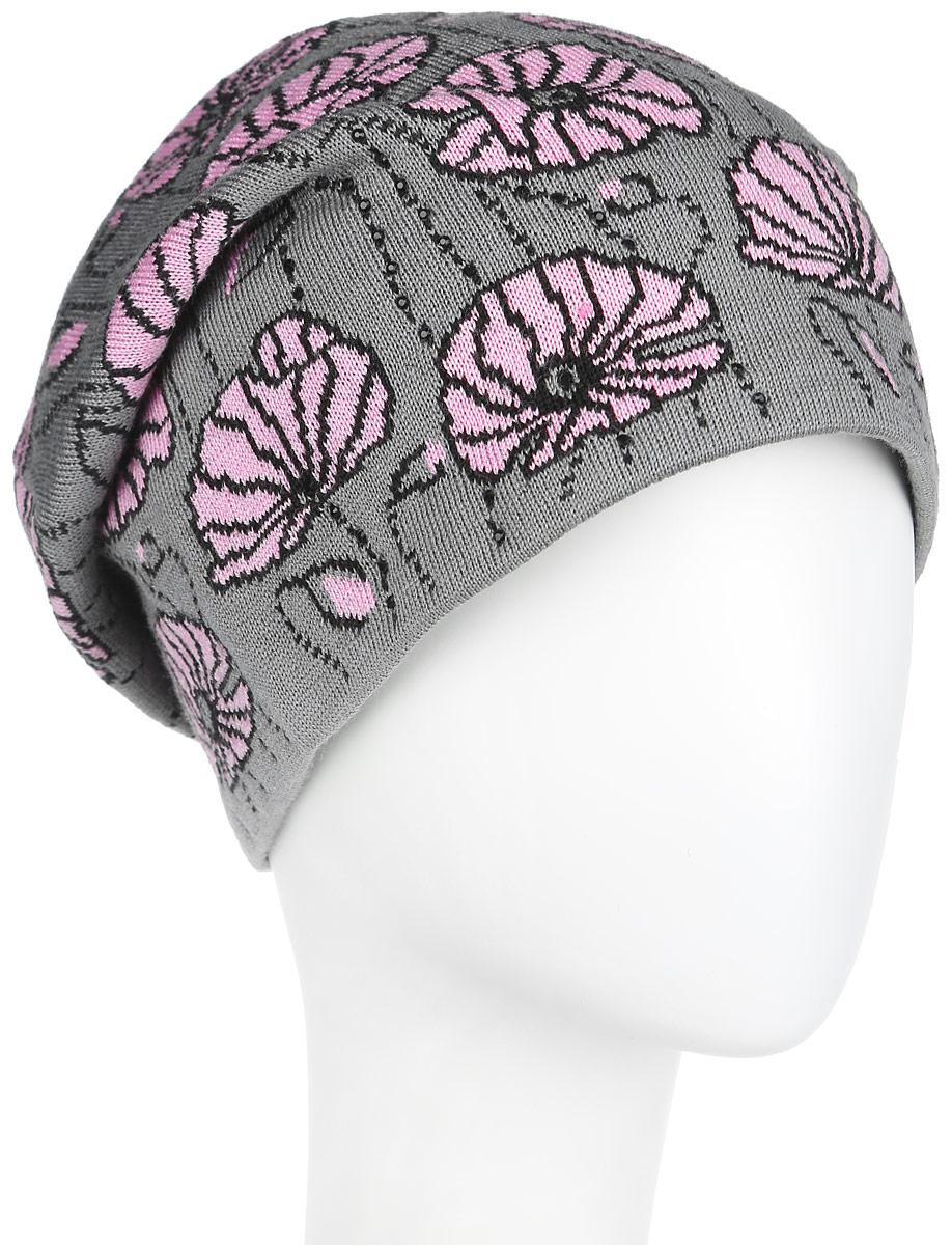 Шапка женская. 2-0212-021_006/011Женская шапка Flioraj дополнит ваш образ в холодную погоду. Изделие выполнено из высококачественной шерсти в сочетании с акрилом, приятное на ощупь, идеально прилегает к голове. Подкладка шапки изготовлена из теплого мягкого флиса. Удлиненная модель шапки подходит для любого типа лица и никогда не выходит из моды. Изделие оформлено цветочным принтом, а также декорировано спереди мелкими стразами. Такой стильный и теплый аксессуар подчеркнет вашу индивидуальность и станет отличным дополнением к гардеробу. Уважаемые клиенты! Размер, доступный для заказа, является обхватом головы.