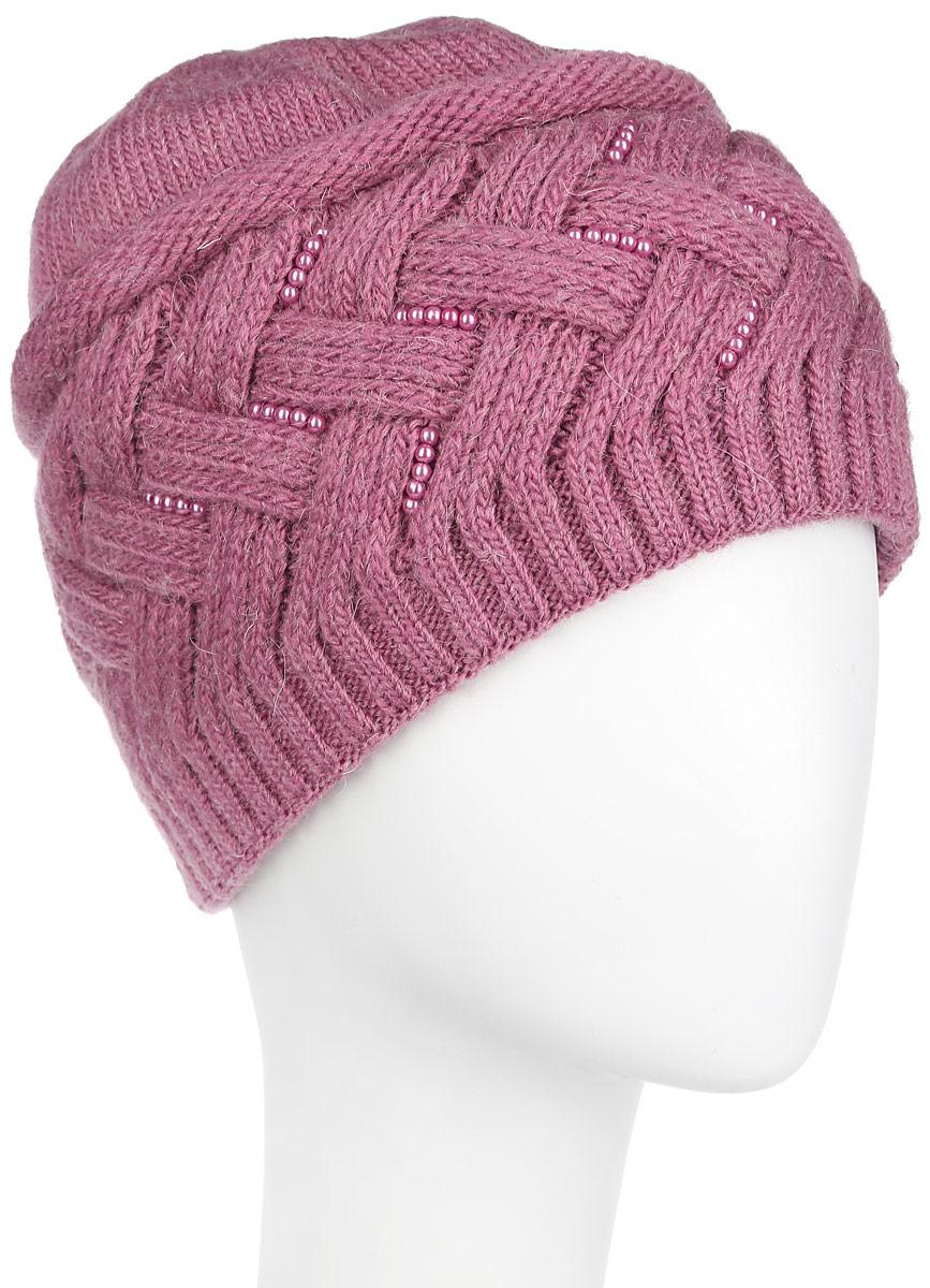 Шапка женская. 3-0303-030-006мСтильная женская шапка Flioraj дополнит ваш наряд и не позволит вам замерзнуть в холодное время года. Шапка выполнена из высококачественной комбинированной пряжи из шерсти и акрила, что позволяет ей великолепно сохранять тепло и обеспечивает высокую эластичность и удобство посадки. Изделие дополнено вязаной подкладкой, благодаря чему не продувается и комфортно сидит. Шапка украшена оригинальным вязаным узором и декорирована блестящими бусинами. Такая шапка станет модным и стильным дополнением вашего зимнего гардероба, великолепно подойдет для активного отдыха и занятия спортом. Она согреет вас и позволит вам подчеркнуть свою индивидуальность! Уважаемые клиенты! Размер, доступный для заказа, является обхватом головы.