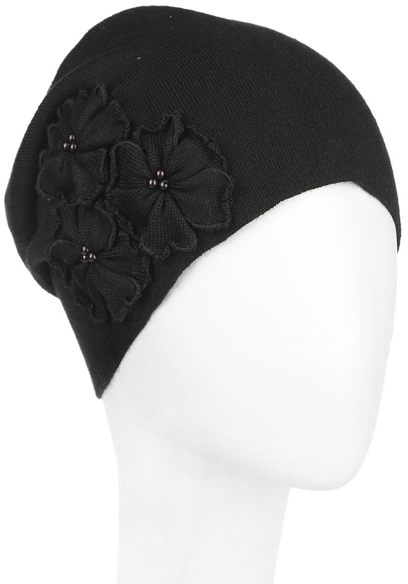 Шапка женская. 7-0087-008-157Удлиненная женская шапка Flioraj отлично дополнит ваш образ в холодную погоду. Сочетание шерсти и акрила максимально сохраняет тепло и обеспечивает удобную посадку, невероятную легкость и мягкость. Шапка дополнена аппликацией в виде цветов с бусинами в центре, а также стразами. Привлекательная стильная шапка Flioraj подчеркнет ваш неповторимый стиль и индивидуальность. Уважаемые клиенты! Размер, доступный для заказа, является обхватом головы.