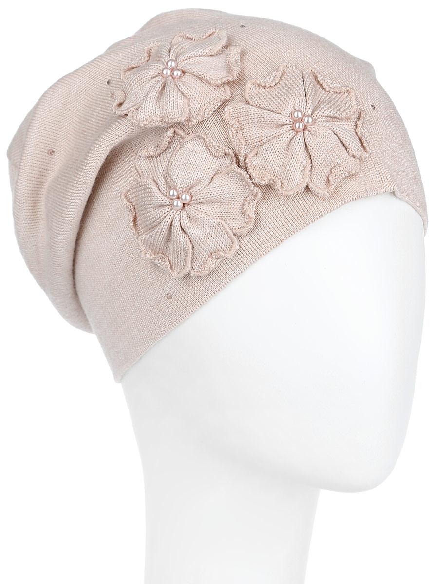 Шапка7-008-157Удлиненная женская шапка Flioraj отлично дополнит ваш образ в холодную погоду. Сочетание шерсти и акрила максимально сохраняет тепло и обеспечивает удобную посадку, невероятную легкость и мягкость. Шапка дополнена аппликацией в виде цветов с бусинами в центре, а также стразами. Привлекательная стильная шапка Flioraj подчеркнет ваш неповторимый стиль и индивидуальность. Уважаемые клиенты! Размер, доступный для заказа, является обхватом головы.