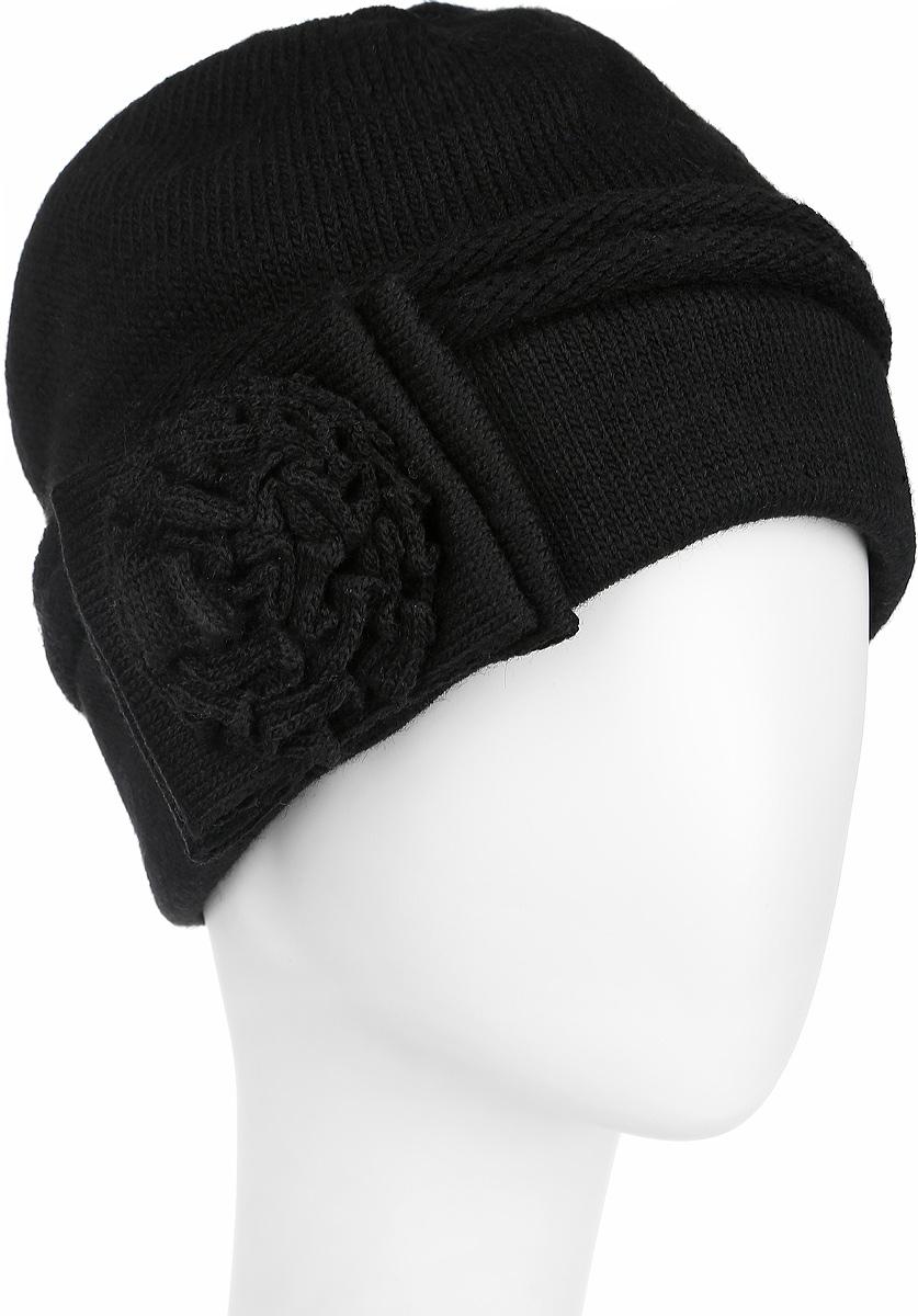 Шапка женская. 3-013-0023-013-002Стильная женская шапка Flioraj дополнит ваш наряд и не позволит вам замерзнуть в холодное время года. Шапка выполнена из высококачественной комбинированной пряжи из шерсти и акрила, что позволяет ей великолепно сохранять тепло и обеспечивает высокую эластичность и удобство посадки. Шапка оформлена оригинальным вязаным цветком сбоку. Такая шапка станет модным и стильным дополнением вашего зимнего гардероба, великолепно подойдет для активного отдыха и занятия спортом. Она согреет вас и позволит вам подчеркнуть свою индивидуальность! Уважаемые клиенты! Размер, доступный для заказа, является обхватом головы.