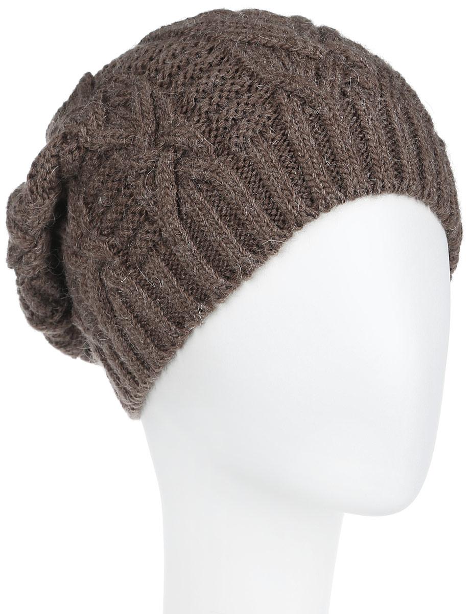 Шапка2-042_006мВязаная женская шапка Flioraj станет идеальным дополнением к вашему образу в холодную погоду. Изделие выполнено из высококачественной шерсти в сочетании с акрилом, приятное на ощупь, максимально сохраняет тепло. Благодаря эластичной вязке, модель идеально прилегает к голове. Оформлено изделие вязаным узором. Край шапки связан резинкой. Такой стильный и теплый аксессуар подчеркнет вашу индивидуальность! Шапка надежно защитит от холода и создаст ощущение комфорта. Уважаемые клиенты! Размер, доступный для заказа, является