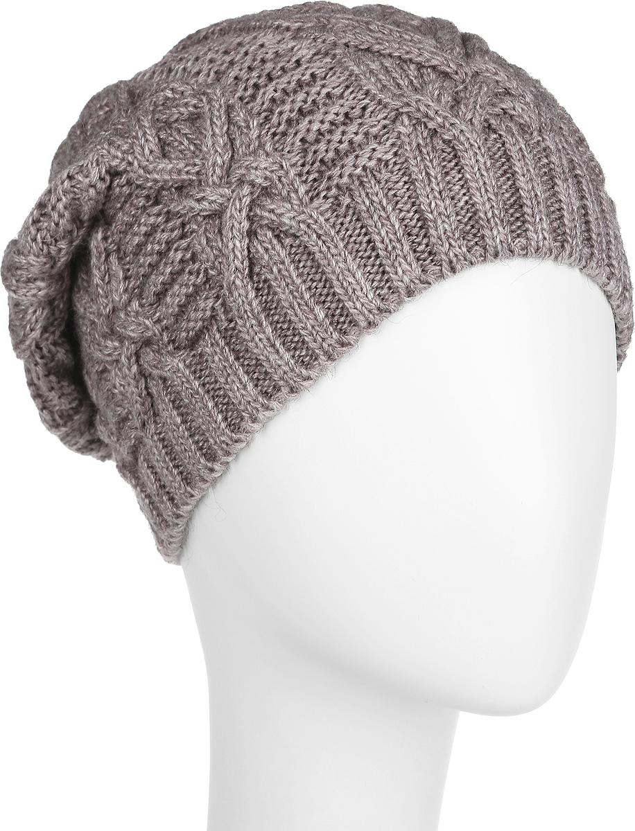 Шапка женская. 2-0422-042_006мВязаная женская шапка Flioraj станет идеальным дополнением к вашему образу в холодную погоду. Изделие выполнено из высококачественной шерсти в сочетании с акрилом, приятное на ощупь, максимально сохраняет тепло. Благодаря эластичной вязке, модель идеально прилегает к голове. Оформлено изделие вязаным узором. Край шапки связан резинкой. Такой стильный и теплый аксессуар подчеркнет вашу индивидуальность! Шапка надежно защитит от холода и создаст ощущение комфорта. Уважаемые клиенты! Размер, доступный для заказа, является