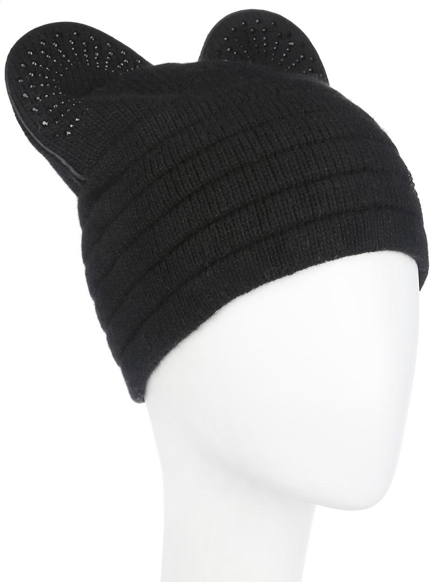 Шапка399Оригинальная женская шапка Flioraj дополнит ваш наряд и не позволит вам замерзнуть в холодное время года. Шапка выполнена из высококачественной комбинированной пряжи из шерсти и акрила, что позволяет ей великолепно сохранять тепло и обеспечивает высокую эластичность и удобство посадки. Шапка оформлена мелкими стразами и дополнена закругленными вязаными ушками сверху. Такая шапка станет модным и стильным дополнением вашего зимнего гардероба, великолепно подойдет для городских прогулок, а также активного отдыха и занятия спортом. Она согреет вас и позволит подчеркнуть свою индивидуальность! Уважаемые клиенты! Обращаем ваше внимание на тот факт, что размер, доступный для заказа, является обхватом головы.