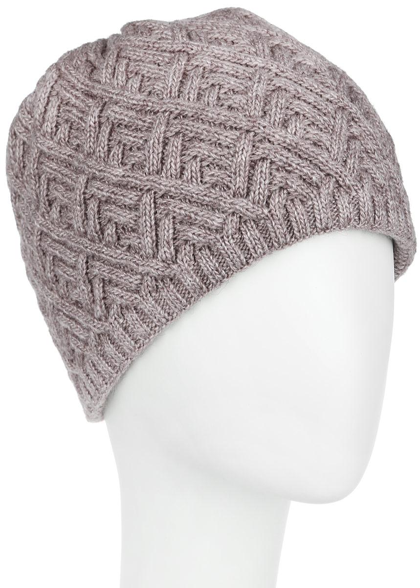 Шапка3-018_001Стильная женская шапка Flioraj с фактурной вязкой дополнит ваш образ в холодную погоду. Модель выполнена из высококачественной шерсти в сочетании с акрилом, мягкая и приятная на ощупь. Шапочка двойная, идеально прилегает к голове, надежно защищая от ветра и мороза. Край шапки связан резинкой средней ширины. Изделие оформлено декоративным вязаным узором. Такой теплый аксессуар подчеркнет вашу женственность и неповторимость, а также защитит от холода и создаст ощущение комфорта. Уважаемые клиенты! Размер, доступный для заказа, является обхватом головы.
