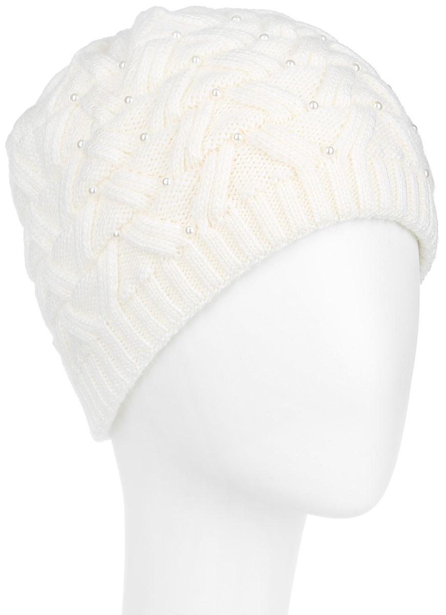 3-036_002Стильная женская шапка Flioraj с фактурной вязкой дополнит ваш образ в холодную погоду. Модель выполнена из высококачественной шерсти в сочетании с акрилом, мягкая и приятная на ощупь. Шапочка двойная, идеально прилегает к голове, благодаря чему надежно защищает от ветра и мороза. Край шапки связан резинкой средней ширины. Изделие оформлено декоративным ажурным узором. Спереди модель декорирована бусинами. Такой теплый аксессуар защитит от холода и станет модным дополнением к вашему гардеробу. Уважаемые клиенты! Размер, доступный для заказа, является обхватом головы.