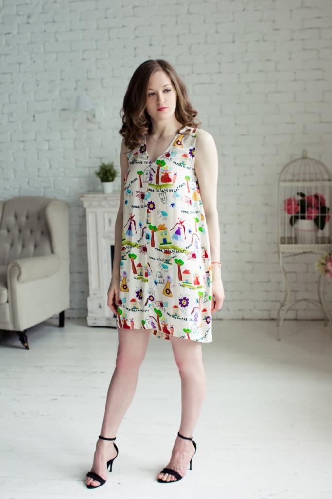 Платье-баллон асимметричное. 7117113071171130