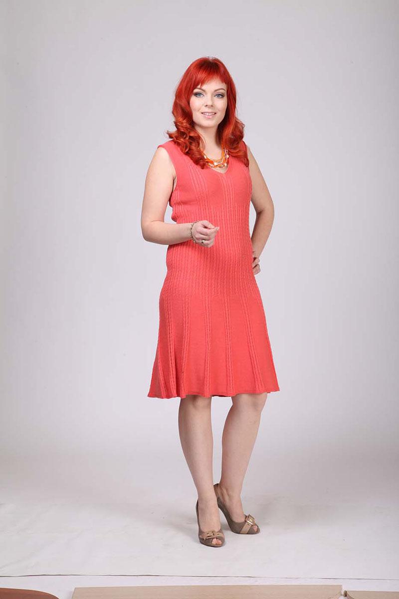 Платье. 680680Элегантное платье Milana Style выполнено из хлопка с добавлением ПАН. Такое платье обеспечит вам комфорт и удобство при носке и непременно вызовет восхищение у окружающих. Модель-миди без рукавов, с V-образным вырезом горловины выгодно подчеркнет все достоинства вашей фигуры. Изделие оформлено объемными вязаными косичками. Изысканное платье-миди создаст обворожительный и неповторимый образ. Это модное и удобное платье станет превосходным дополнением к вашему гардеробу, оно подарит вам удобство и поможет подчеркнуть свой вкус и неповторимый стиль.