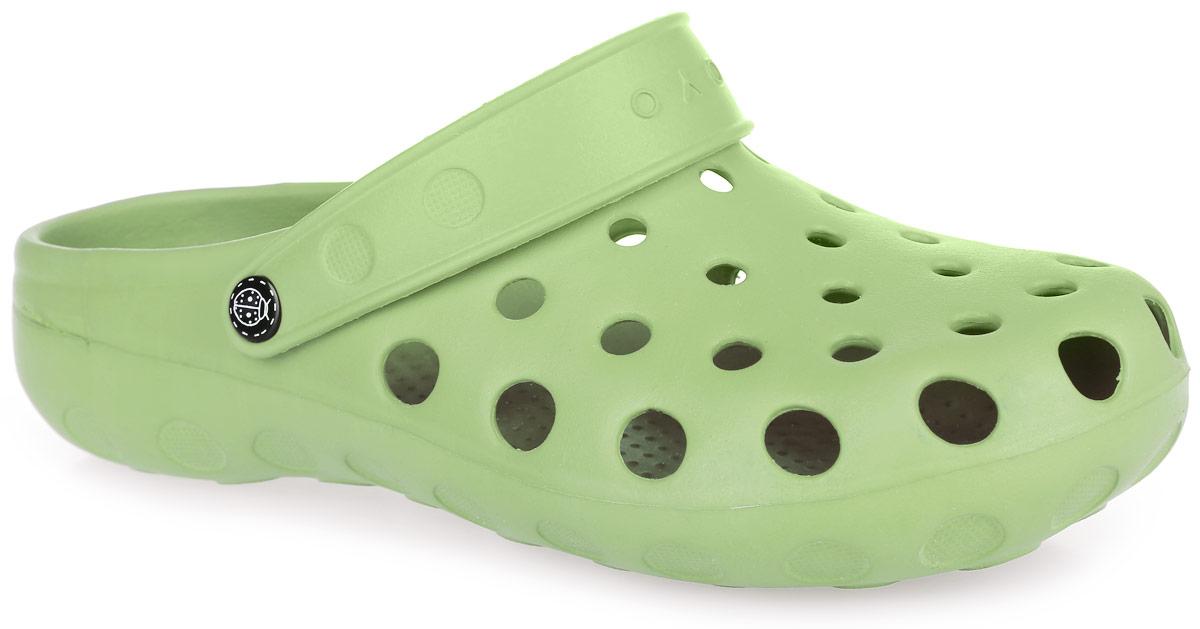 Сабо женские. 2Z2ZОчень легкие сабо от OYO с ремешком на пятке и закрытым мыском, выполненные полностью из ЭВА материала - это превосходный вид обуви. Ремешок на пятке дополнен символикой бренда. Материал ЭВА имеет пористую структуру, обладает великолепными теплоизоляционными и морозостойкими свойствами, 100% водонепроницаемостью, придает обуви амортизационные свойства, мягкость при ходьбе, устойчивость к истиранию подошвы. Рифление на верхней поверхности подошвы предотвращает выскальзывание ноги. Рельефное основание подошвы обеспечивает уверенное сцепление с любой поверхностью. Удобные сабо прекрасно подойдут для работы в огороде, для похода в бассейн или на пляж.