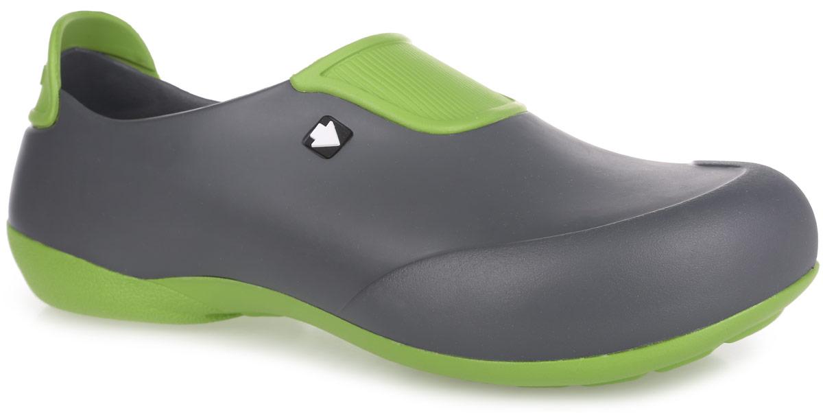 Галоши мужские. GW-1STGW-1STОчень легкие галоши от Gow с закрытой пяткой и закрытым мыском, выполненные полностью из ЭВА материала - это превосходный вид обуви. Подъем и задник модели оформлены контрастными вставками, задник дополнен символикой бренда. Материал ЭВА имеет пористую структуру, обладает великолепными теплоизоляционными и морозостойкими свойствами, 100% водонепроницаемостью, придает обуви амортизационные свойства, мягкость при ходьбе, устойчивость к истиранию подошвы. Рифление на верхней поверхности подошвы предотвращает выскальзывание ноги. Рельефное основание подошвы обеспечивает уверенное сцепление с любой поверхностью. Удобные галоши прекрасно подойдут для работы в огороде, для похода в бассейн или на пляж.