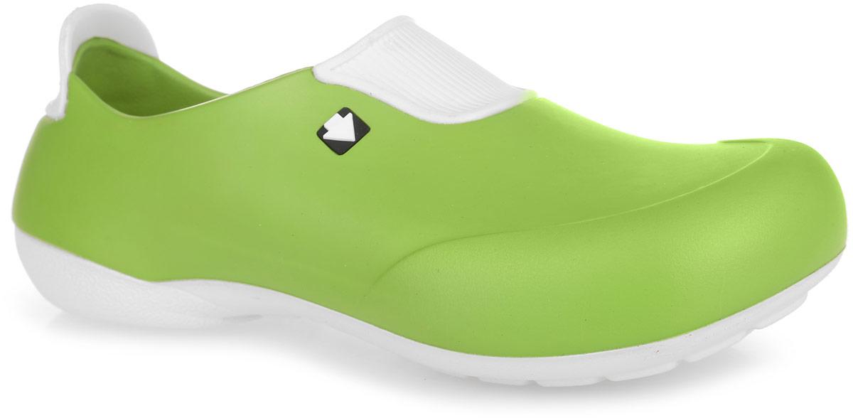 Галоши женские. GW-2STGW-2STОчень легкие галоши от Gow с закрытой пяткой и закрытым мыском, выполненные полностью из ЭВА материала - это превосходный вид обуви. Подъем и задник модели оформлены контрастными вставками, задник дополнен символикой бренда. Материал ЭВА имеет пористую структуру, обладает великолепными теплоизоляционными и морозостойкими свойствами, 100% водонепроницаемостью, придает обуви амортизационные свойства, мягкость при ходьбе, устойчивость к истиранию подошвы. Рифление на верхней поверхности подошвы предотвращает выскальзывание ноги. Рельефное основание подошвы обеспечивает уверенное сцепление с любой поверхностью. Удобные галоши прекрасно подойдут для работы в огороде, для похода в бассейн или на пляж.