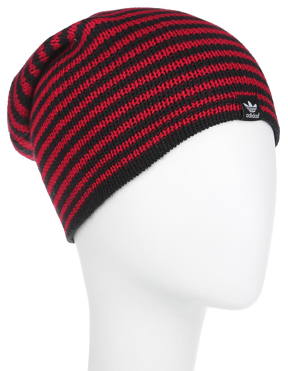 ШапкаX52120Вязаная женская шапка Adidas Beanie Rev ST идеально подойдет для вас в прохладную погоду. Изготовленная из акрила, она мягкая и приятная на ощупь, максимально удерживает тепло. Шапочка двойная, плотно облегает голову, благодаря чему надежно защищает от ветра и мороза. Удлиненная модель шапки в полоску оформлена небольшой нашивкой с логотипом бренда. Такой стильный и теплый головной убор дополнит ваш образ и подчеркнет индивидуальность! Уважаемые клиенты! Размер, доступный для заказа, является обхватом головы.