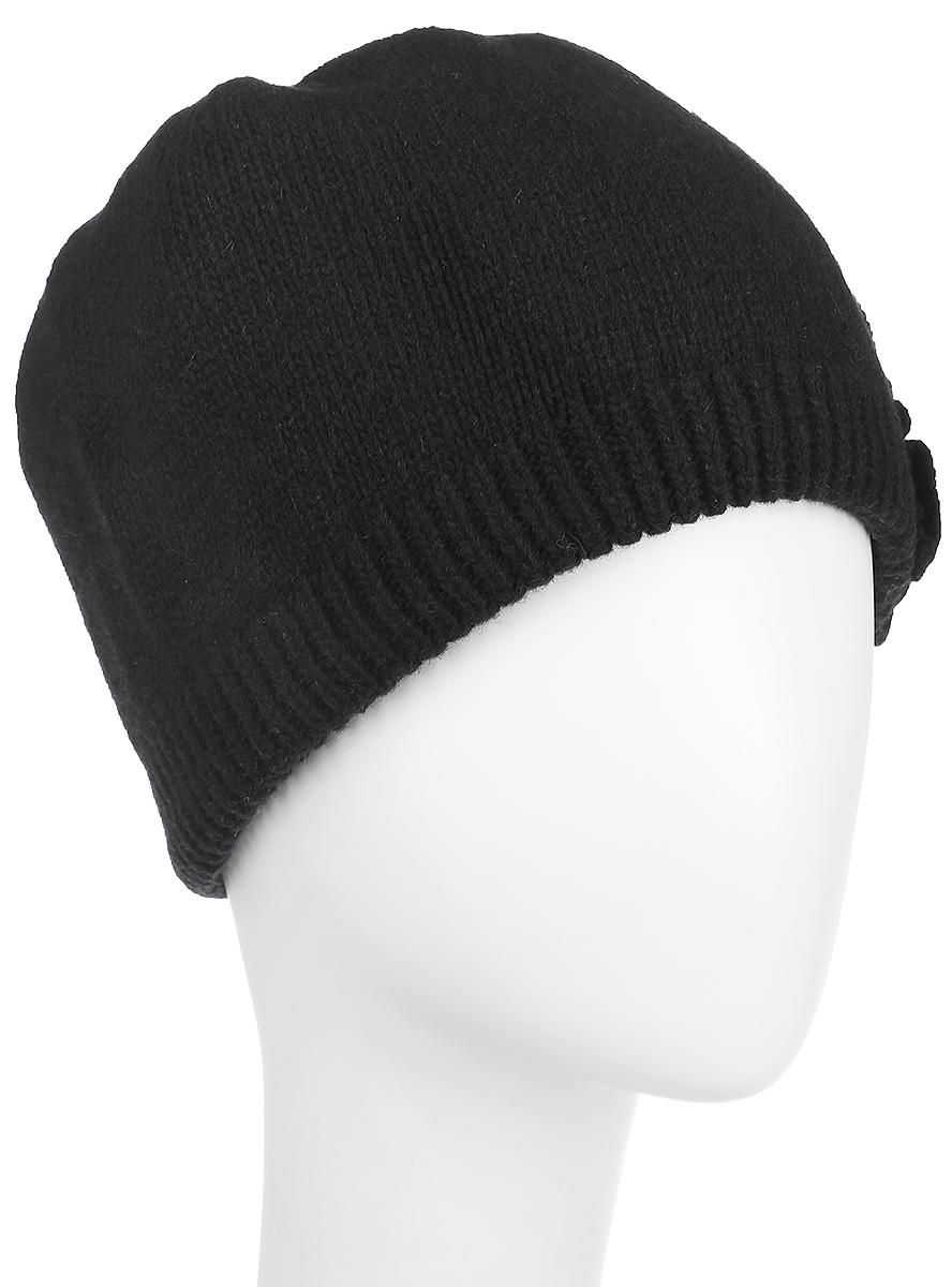 Шапка женская. 2013-372013-37-Lt.grayСтильная женская шапка Fabretti отлично дополнит ваш образ и защитит от холода. Сочетание шерсти и полиамида максимально сохраняет тепло и обеспечивает удобную посадку. Классическая вязаная шапка декорирована стразами с левой стороны. Такая шапка станет отличным дополнением к вашему осеннему или зимнему гардеробу, в ней вам будет уютно и тепло!