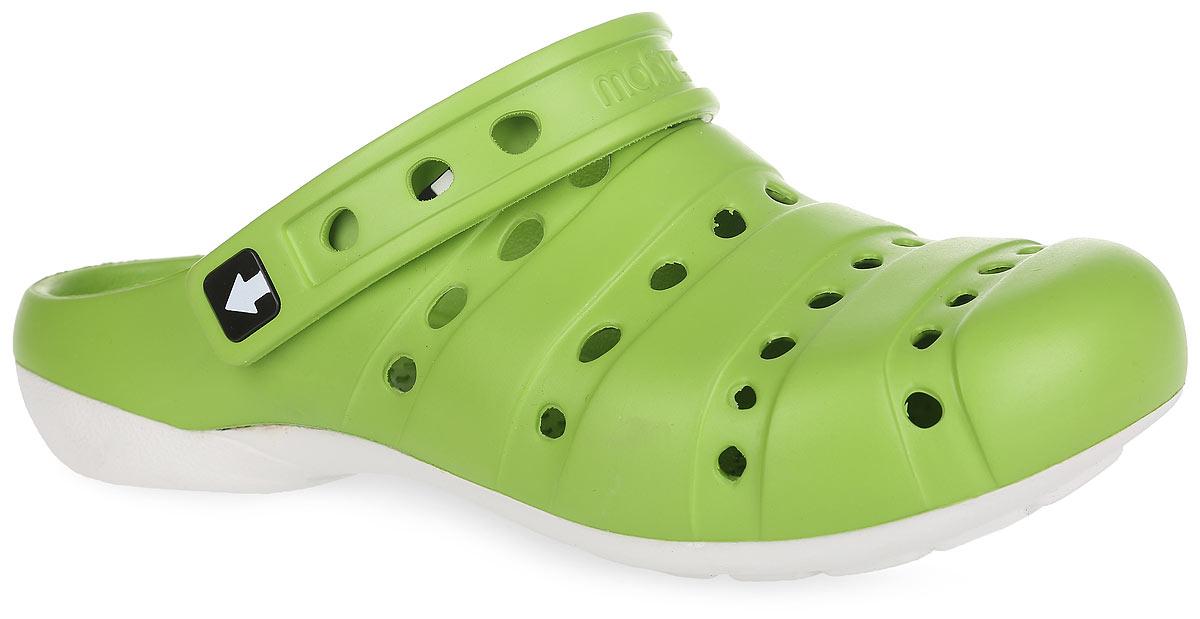 Сабо женские. GW-2СGW-2СОчень легкие сабо от Gow с ремешком на пятке и закрытым мыском, выполненные полностью из ЭВА материала - это превосходный вид обуви. Ремешок на пятке дополнен символикой бренда. Материал ЭВА имеет пористую структуру, обладает великолепными теплоизоляционными и морозостойкими свойствами, 100% водонепроницаемостью, придает обуви амортизационные свойства, мягкость при ходьбе, устойчивость к истиранию подошвы. Рифление на верхней поверхности подошвы предотвращает выскальзывание ноги. Рельефное основание подошвы обеспечивает уверенное сцепление с любой поверхностью. Удобные сабо прекрасно подойдут для работы в огороде, для похода в бассейн или на пляж.