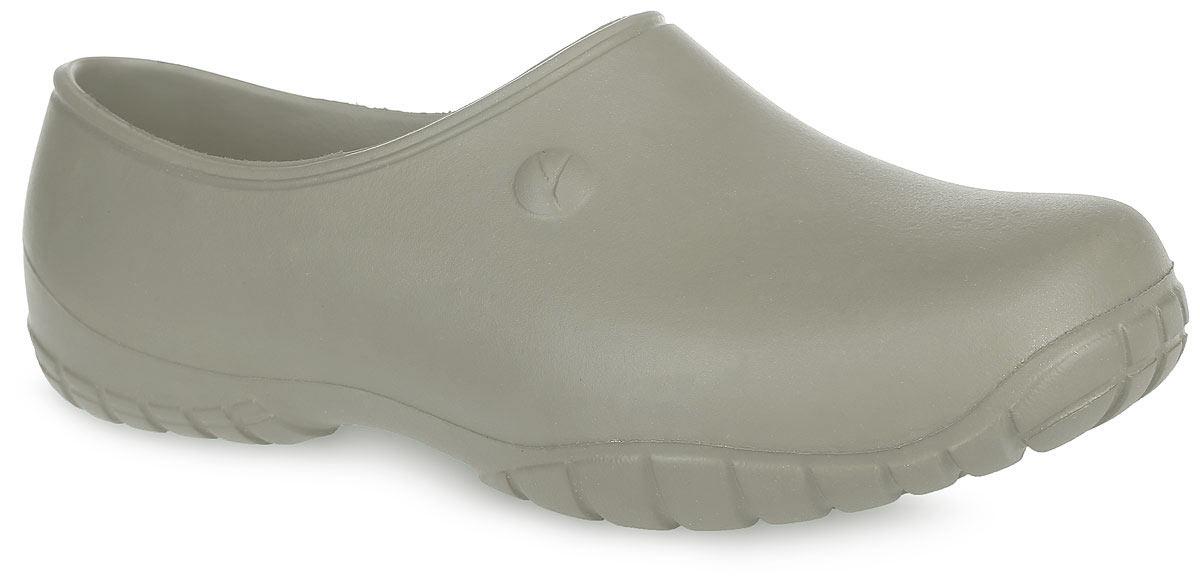 Галоши мужские. 1В1ВОчень легкие галоши от OYO с закрытой пяткой и закрытым мыском, выполненные полностью из ЭВА материала - это превосходный вид обуви. Материал ЭВА имеет пористую структуру, обладает великолепными теплоизоляционными и морозостойкими свойствами, 100% водонепроницаемостью, придает обуви амортизационные свойства, мягкость при ходьбе, устойчивость к истиранию подошвы. Рифление на верхней поверхности подошвы предотвращает выскальзывание ноги. Рельефное основание подошвы обеспечивает уверенное сцепление с любой поверхностью. Удобные галоши прекрасно подойдут для работы в огороде.