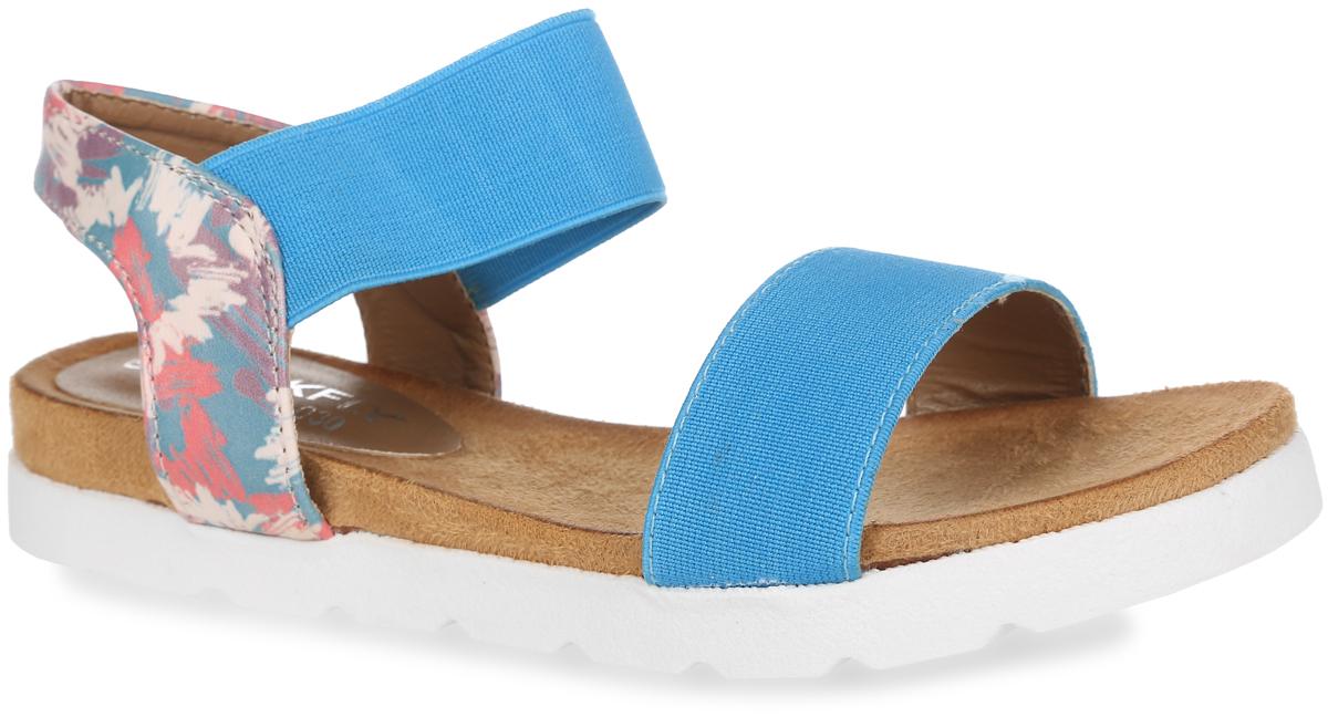 Сандалии для девочки. 01-116-0301-116-030Модные сандалии от MakFly не оставят равнодушной вашу девочку! Модель изготовлена из комбинации искусственной кожи и текстиля. Пяточный ремешок, дополненный эластичной вставкой, надежно зафиксирует обувь на ноге. Приятная на ощупь стелька из искусственной кожи обеспечит комфорт при движении. Подошва с рифлением обеспечивает отличное сцепление с поверхностью. Практичные и стильные сандалии займут достойное место в гардеробе вашей девочки.