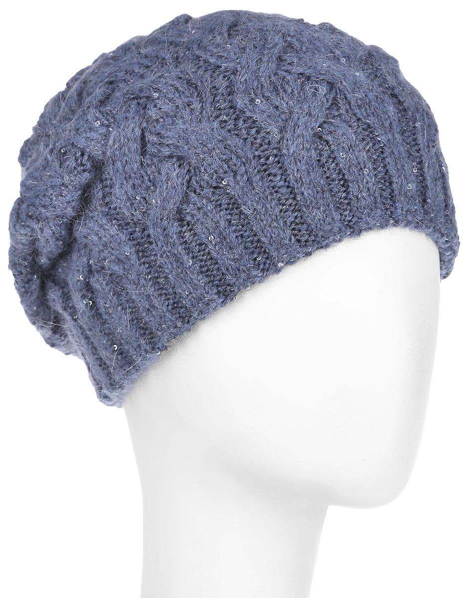 Шапка женская Виттория. 21014K21014KВязаная женская шапка Dispacci Виттория отлично подойдет для вас в холодное время года. Изготовленная из высококачественной итальянской пряжи с содержанием шерсти, она мягкая и приятная на ощупь, обладает хорошими дышащими свойствами и максимально удерживает тепло. Шапочка двойная, что позволяет носить ее и в очень морозную погоду. Удлиненная модель шапки идеально подходит для любого типа лица и никогда не выходит из моды. Изделие оформлено крупным вязаным узором в виде косичек. Декорирована шапка мелкими переливающимися пайетками по всей поверхности, а также небольшой металлической пластиной с названием бренда. Шапка не только теплый головной убор, но и изящный аксессуар. Она подчеркнет ваш стиль и индивидуальность! Уважаемые клиенты! Размер, доступный для заказа, является обхватом головы.