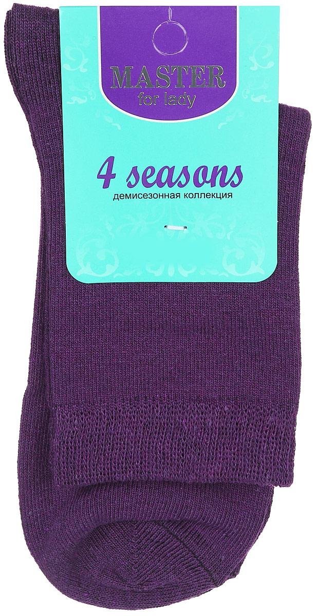 Носки женские. 5506055060Удобные носки Master Socks, изготовленные из высококачественного комбинированного материала, очень мягкие и приятные на ощупь, позволяют коже дышать. Эластичная резинка плотно облегает ногу, не сдавливая ее, обеспечивая комфорт и удобство. Носки с паголенком классической длины. Практичные и комфортные носки великолепно подойдут к любой вашей обуви.