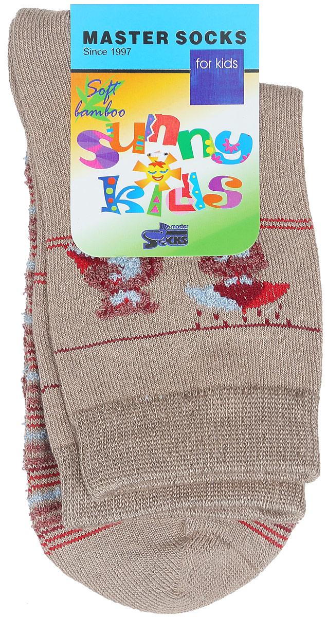 82605Комфортные и прочные носки Master Socks Sunny Kids выполнены из бамбука и эластичного хлопка с добавлением полиамида. Материал изделия очень мягкий и приятный на ощупь, хорошо тянется, не деформируясь. Эластичная резинка мягко облегает ножку ребенка, обеспечивая удобство и комфорт. Модель оформлена принтом в полоску, украшена объемным изображением медвежат, связанным из пряжи с петельками. Такие носочки станут отличным дополнением к детскому гардеробу! Уважаемые клиенты! Размер, доступный для заказа, является длиной стопы.