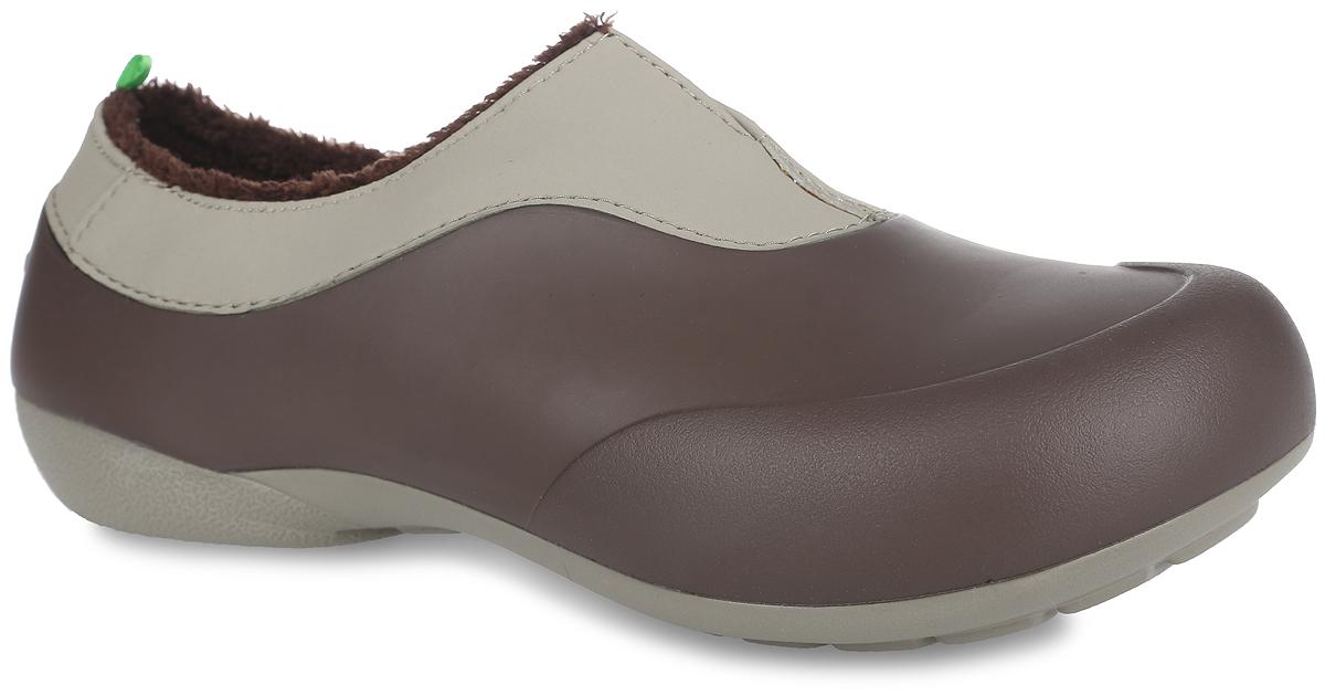 GW-1MОчень легкие галоши от Gow с закрытой пяткой и закрытым мыском, выполненные из ЭВА материала - это превосходный вид обуви. Модель имеет несъемный утеплитель удобный для одевания и снимания, который защитит ваши ноги от зябкого межсезонья. Материал ЭВА имеет пористую структуру, обладает великолепными теплоизоляционными и морозостойкими свойствами, 100% водонепроницаемостью, придает обуви амортизационные свойства, мягкость при ходьбе, устойчивость к истиранию подошвы. Рельефное основание подошвы обеспечивает уверенное сцепление с любой поверхностью. Удобные галоши прекрасно подойдут для работы в огороде, а также для носки в непогоду.