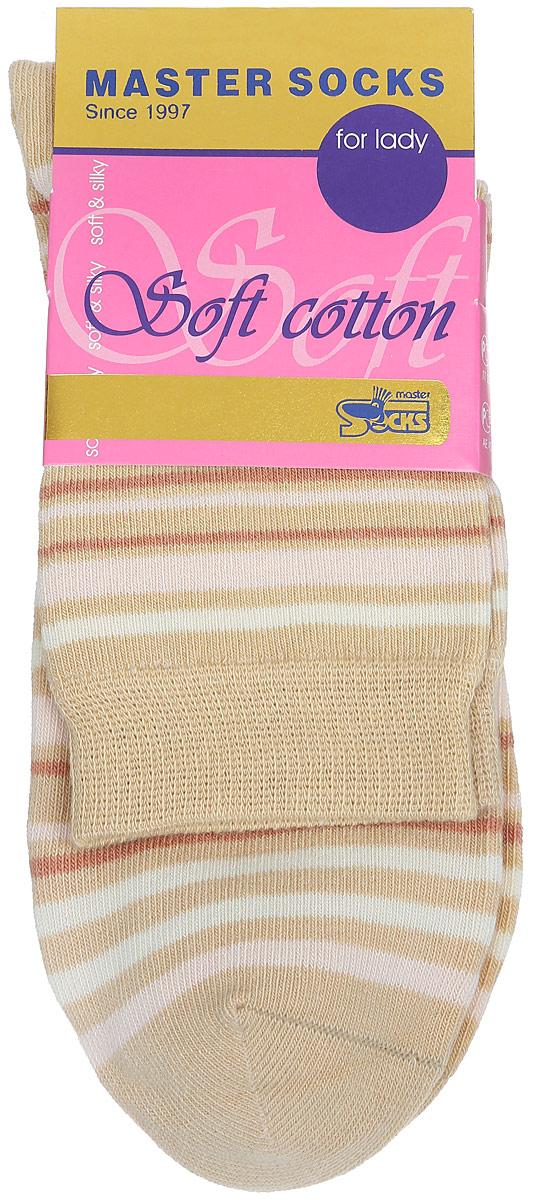 Носки женские Soft Cotton. 8501385013Удобные носки Master Socks, изготовленные из высококачественного комбинированного материала, очень мягкие и приятные на ощупь, позволяют коже дышать. Эластичная резинка плотно облегает ногу, не сдавливая ее, обеспечивая комфорт и удобство. Модель с стандартным паголенком оформлена принтом в полоску. Удобные и комфортные носки великолепно подойдут к любой вашей обуви.