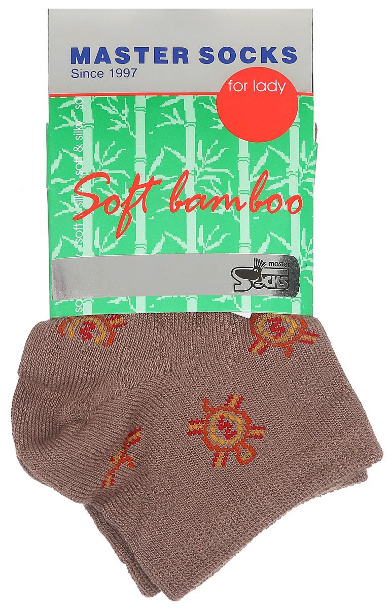 Носки женские Soft Bamboo. 8560585605Удобные укороченные носки Master Socks, изготовленные из высококачественного комбинированного материала, очень мягкие и приятные на ощупь, позволяют коже дышать. Эластичная резинка плотно облегает ногу, не сдавливая ее, обеспечивая комфорт и удобство. Носки дополнены полупрозрачным орнаментом с изображением черепахи. Практичные и комфортные носки великолепно подойдут к любой вашей обуви.