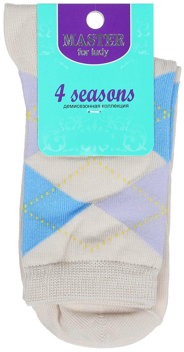Носки женские. 5503255032Удобные носки Master Socks, изготовленные из высококачественного комбинированного материала, очень мягкие и приятные на ощупь, позволяют коже дышать. Эластичная резинка плотно облегает ногу, не сдавливая ее, обеспечивая комфорт и удобство. Носки с паголенком классической длины оформлены орнаментом в ромбик. Практичные и комфортные носки великолепно подойдут к любой вашей обуви.
