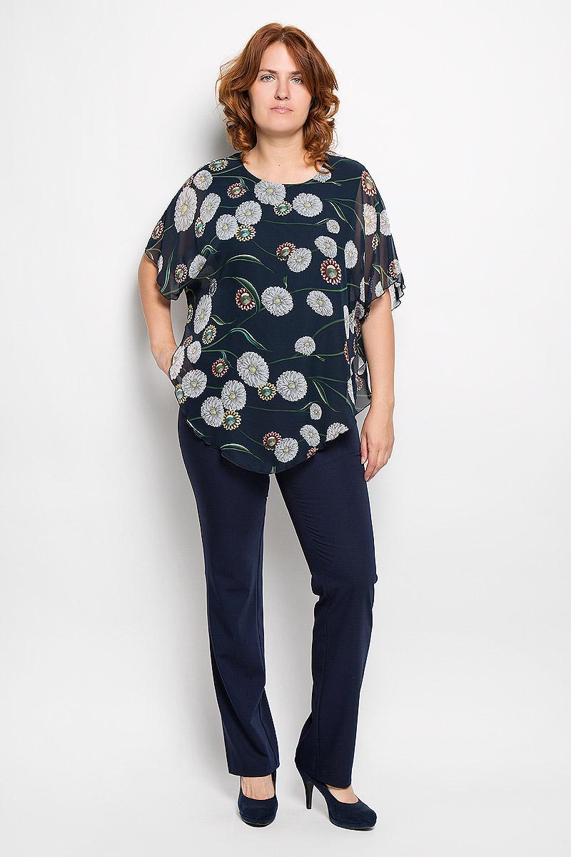 925мСтильная женская блузка Milana Style, выполненная из полиэстера с добавлением вискозы и лайкры, подчеркнет ваш уникальный стиль и поможет создать женственный образ. Модель свободного покроя c круглым вырезом горловины и рукавами летучая мышь. Верх блузы выполнен из полупрозрачного материала и оформлен цветочным принтом. Такая блузка будет дарить вам комфорт в течение всего дня и послужит замечательным дополнением к вашему гардеробу.