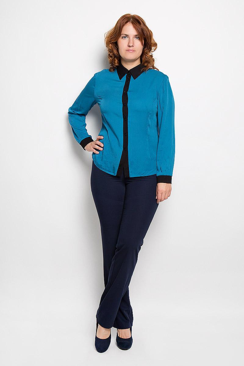 Блузка131001Стильная женская блузка Milana Style, выполненная из хлопка с добавлением эластана, подчеркнет ваш уникальный стиль и поможет создать женственный образ. Модель c отложным воротником и длинными рукавами застегивается на пуговицы по всей длине. Низ рукавов обработан манжетами. Такая блузка будет дарить вам комфорт в течение всего дня и послужит замечательным дополнением к вашему гардеробу.