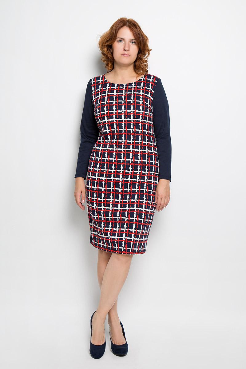 Платье821Оригинальное платье Milana Style станет ярким и стильным дополнением к вашему гардеробу. Изделие выполнено из вискозы с добавлением полиамида и эластана, приятное к телу, не сковывает движения и хорошо вентилируется. Модель длинными рукавами и круглым вырезом горловины. Платье-миди оформлено спереди оформлено принтом в клетку. Такое платье поможет создать яркий и привлекательный образ, в нем вам будет удобно и комфортно.