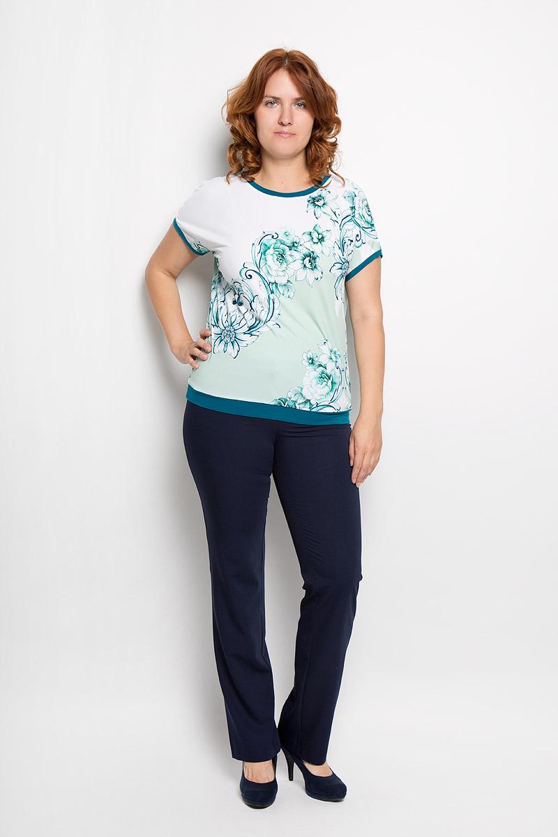 924мСтильная женская блузка Milana Style, выполненная из вискозы с добавлением лайкры, подчеркнет ваш уникальный стиль и поможет создать женственный образ. Модель c круглым вырезом горловины и рукавами-кимоно. Низ рукавов и низ изделия дополнены тонкими манжетами. Блуза оформлена цветочным принтом. Такая блузка будет дарить вам комфорт в течение всего дня и послужит замечательным дополнением к вашему гардеробу.