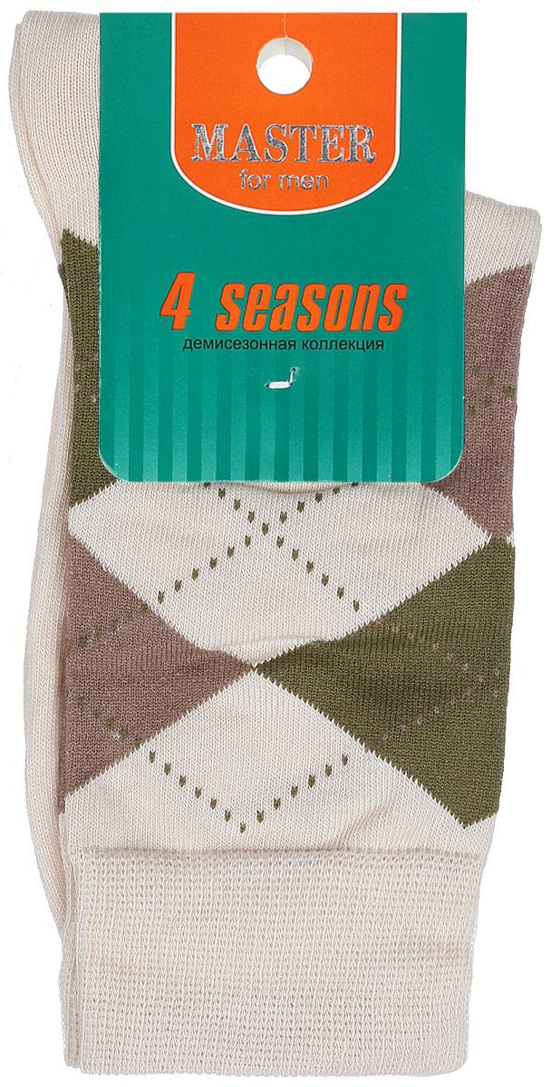 Носки58032Удобные носки Master Socks, изготовленные из высококачественного комбинированного материала, очень мягкие и приятные на ощупь, позволяют коже дышать. Эластичная резинка плотно облегает ногу, не сдавливая ее, обеспечивая комфорт и удобство. Носки с паголенком классической длины оформлены орнаментом в ромбик. Практичные и комфортные носки великолепно подойдут к любой вашей обуви.