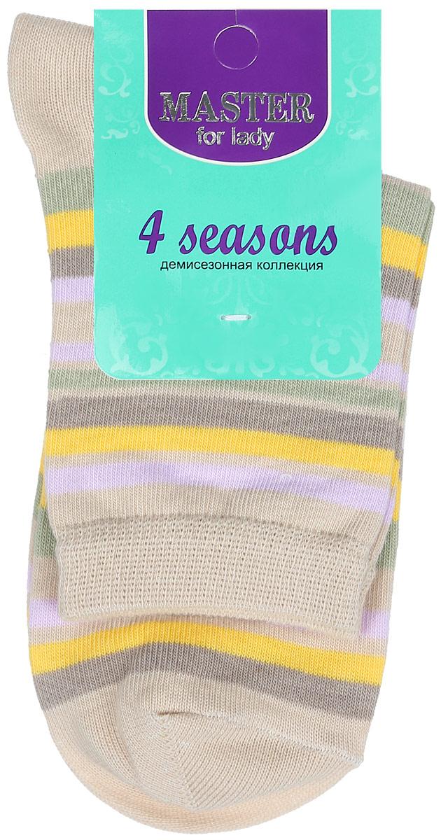 Носки женские. 5500255002Удобные носки Master Socks, изготовленные из высококачественного комбинированного материала, очень мягкие и приятные на ощупь, позволяют коже дышать. Эластичная резинка плотно облегает ногу, не сдавливая ее, обеспечивая комфорт и удобство. Носки с паголенком классической длины оформлены принтом в полоску. Практичные и комфортные носки великолепно подойдут к любой вашей обуви.