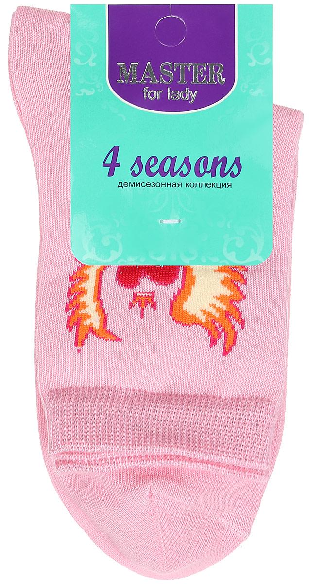 Носки женские. 5500355003Удобные носки Master Socks, изготовленные из высококачественного комбинированного материала, очень мягкие и приятные на ощупь, позволяют коже дышать. Эластичная резинка плотно облегает ногу, не сдавливая ее, обеспечивая комфорт и удобство. Носки с паголенком классической длины оформлены оригинальным рисунком в виде сердец. Практичные и комфортные носки великолепно подойдут к любой вашей обуви.