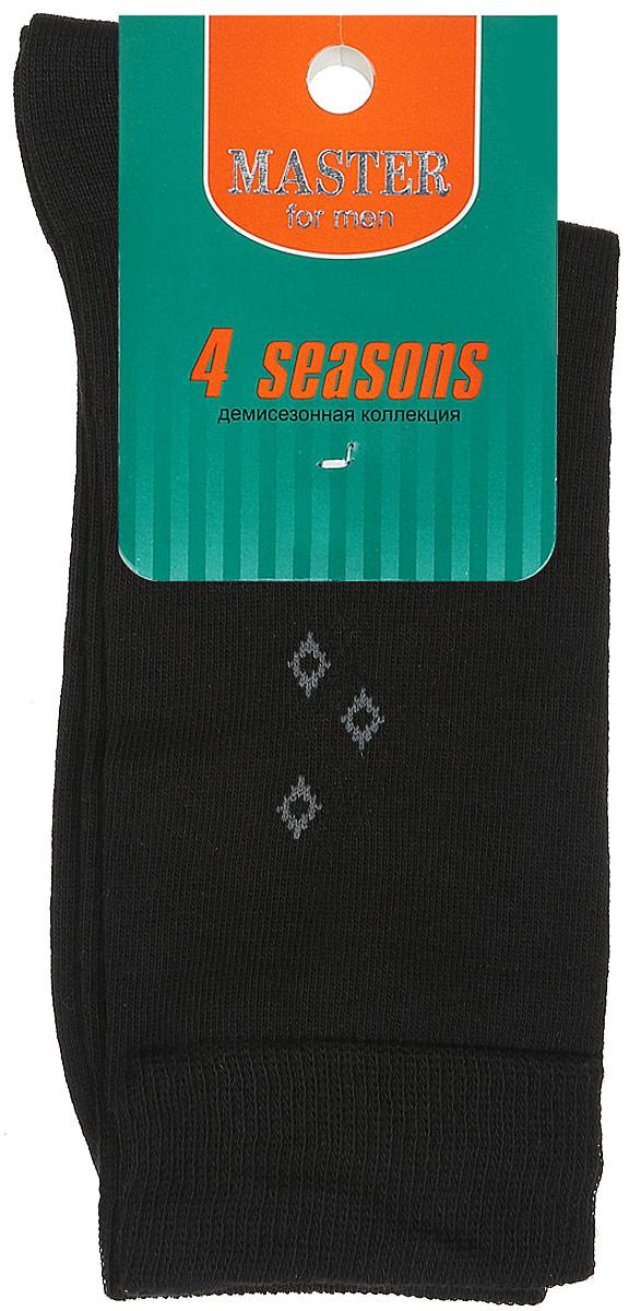 Носки мужские. 5801358013_01Удобные носки Master Socks, изготовленные из высококачественного комбинированного материала, очень мягкие и приятные на ощупь, позволяют коже дышать. Эластичная резинка плотно облегает ногу, не сдавливая ее, обеспечивая комфорт и удобство. Носки с паголенком классической длины оформлены небольшим геометрическим рисунком в верхней части носка. Практичные и комфортные носки великолепно подойдут к любой вашей обуви.