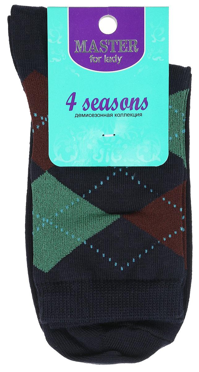 Носки55032Удобные носки Master Socks, изготовленные из высококачественного комбинированного материала, очень мягкие и приятные на ощупь, позволяют коже дышать. Эластичная резинка плотно облегает ногу, не сдавливая ее, обеспечивая комфорт и удобство. Носки с паголенком классической длины оформлены орнаментом в ромбик. Практичные и комфортные носки великолепно подойдут к любой вашей обуви.